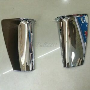 For Toyota Prius 2016 Abs Chrome Tail Trunk Door License Plate Side Frame Cover