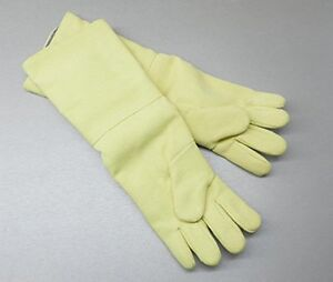 Kevlar Hi heat Resistant Gloves Furnace 23 Long Pair High Heat 800 Degrees