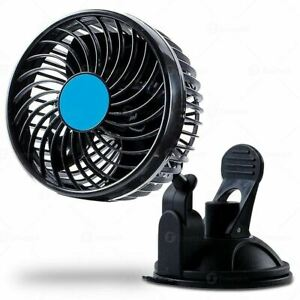 Zone Tech 4 5 12v Stepless Car Cooling Air Window Fan Suction Cup Oscillating