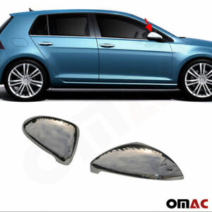 Fits Vw Golf Mk7 2015 2019 Stainless Steel Chrome Side Mirror Cover Cap 2 Pcs