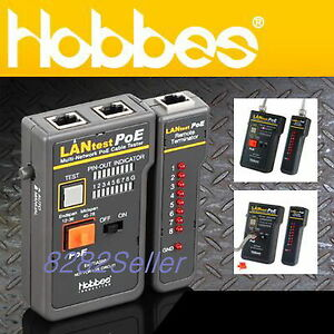 Hobbes 256551p Lantest Poe Cable Tester Lan Cable Rj45 rj11 12 Bnc Coaxial Test