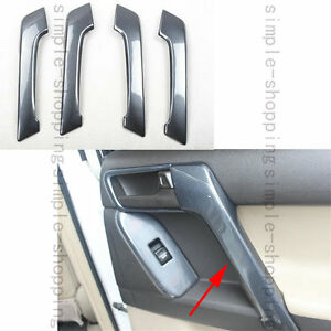 4x For Toyota Prado Fj150 10 16 Door Handle Holder Cover Trim Carbon Fiber Color