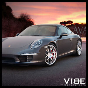 19 Ruger Mesh Forged Silver Concave Wheels Rims Fits Porsche 997 911 Carrera S