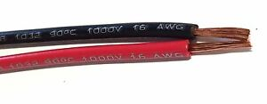 16 Gauge Wire Red Black 50 Ft Each Primary Awg Stranded Copper Power Remote