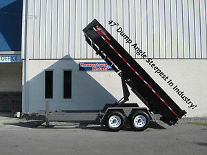 16 Bwise Hd Dump Trailer hydraulic Jack 3 Way Gate Ramps And More