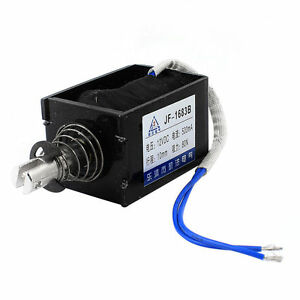 Dc 12v 0 5a 10mm Stroke 8kg Force Push Pull Type Solenoid Electromagnet Jf 1683b