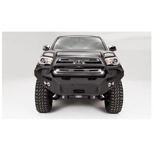 Fab Fours Tt16b36521 Black Front Winch Bumper W Pre Runner Guard For Tacoma