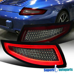 Porsche 2005 2008 911 997 Carrera Targa Gt2 Gt3 Turbo Red Smoke Led Tail Lamps
