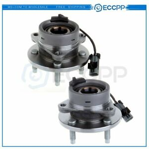 2 Front Wheel Hub Bearing Assembly 4 Lug New For Chevy Cobalt G5 Ion W Abs
