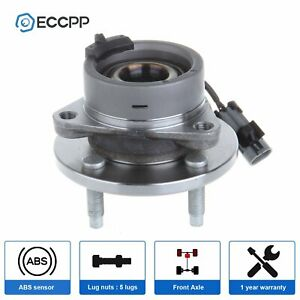 New Front Wheel Hub Bearing Assembly 4 Lug Fits Chevy Cobalt G5 Ion W Abs