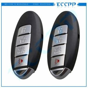 2 New Replacement Keyless Entry Remote Ignition Key Fob Smart For Kr55wk49622