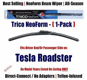 Qty 1 Super Premium Neoform Wiper Blade Fits 2008 2011 Tesla Roadster 16260