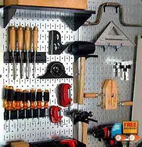 Wall Control Galvanized Steel Pegboard Metal Tool Board Kitchen Garage Organizer