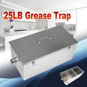 25lb 13gpm Gallon Per Minute Grease Trap Stainless Steel Kitchen Interceptor