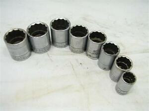 Lot Sk wayne Shallow Sockets 1 2 Drive Sae 5 8 1 1 8 12 point Tool