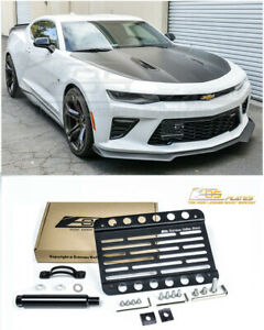 Eos For 16 up Camaro Ss Front Bumper Tow Hook License Plate Bracket Relocator