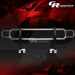 Oe Style Stainless Chrome Front Bumper Brush Guard Frame For 06 10 Hummer H3 h3t