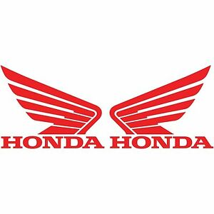 2 Honda Wing Vinyl Decal Car Truck Window Sticker Motorcycle Racing Bumper Jdm