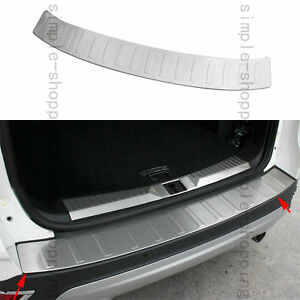 Stainless Rear Bumper Protector Trunk Sill Plate Cover Trim For Ford Escape Kuga