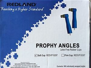 Redland Disposable Dental Prophy Angles Latex Free Firm Rubber Cups 500 Pcs Fda