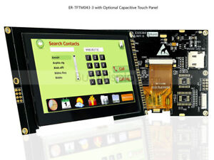 4 3 Inch Tft Lcd Module Display i2c serial W capacitive Touch Panel tutorial