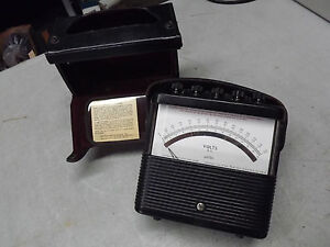 Weston Instrument Portable Ac Volts Meter Model 904 With Leather Case From 1976