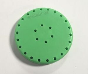 4x Plasdent Neon Green Round Magnetic Dental Bur Block Holder Station 28 Holes