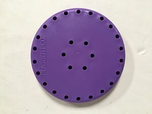 4x Plasdent Purple Round Magnetic Dental Bur Block Holder Station 28 Holes New