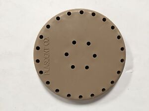 6 X Plasdent Beige Round Magnetic Dental Bur Block Holder Station 28 Holes New