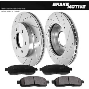 Front Drill Brake Rotors Metallic Pads For 2004 2005 2006 2007 2008 Ford F150