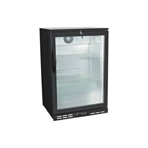 Glass Door Back Bar Beverage Cooler Counter Height Beer Refrigerator