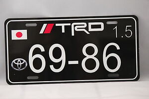 Trd Jdm Aluminum Custom Japanese License Plate