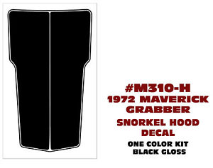 Sp M310 H 1972 Ford Maverick Grabber Twin Scoop Hood Decal Factory Size