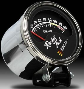 Classic Instruments Rocket Tach With Chrome Tach Cup Rt80slf 3 3 8