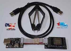 New Usb 2 0 Bios Eeprom Flash Programmer And Plcc32 Adapter Winbond Sst