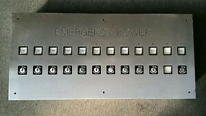 Emergency Power Push Button Panel