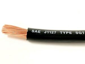 1 Gauge Battery Cable Black Sae J1127 Sgt Automotive Power Wire Sold Per Foot