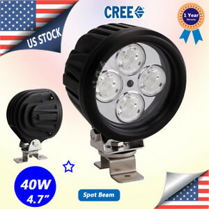 4 7inch 40w Cree Led Round Work Driving Spot Light Jeep 4x4 Atv Fog Head Light
