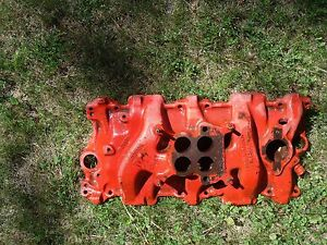 57 Chevrolet And Corvette 283 Engine 4 Barrel Intake Manifold 220 Hp