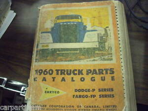 60 Dodge And Fargo Truck Parts Book