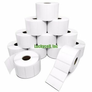20 Rolls 2x1 Direct Thermal Labels 1300 roll Zebra Lp2824 Lp2422 Lp2844 Zp450