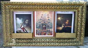Antique Bible Prints Mounted In An Antique Metal Frame