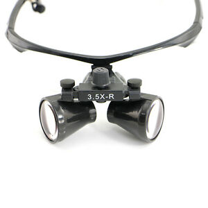 Usa Dental Loupes Ultra light 3 5x Binocular Surgical Loupes Headlight Cv 287