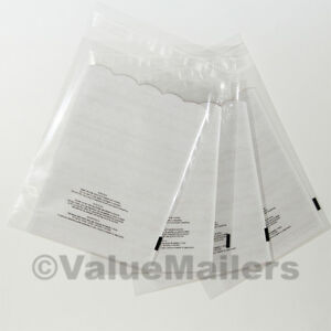 500 10x13 1 5 Mil Bags Resealable Clear Suffocation Warning Poly Opp Cello Bag
