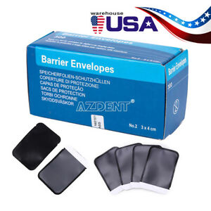 300pc Dental Barrier Envelopes Size 2 For Digital X ray Scanx Phosphor Plates