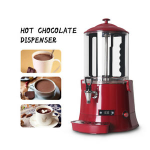 10l Hot Chocolate Machine Electric Dispenser Bain Marie Mixer Wine Red 220 110v