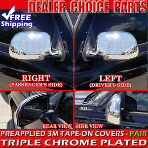 1999 2006 Chevy Silverado Gmc Sierra Chrome Mirror Covers Full Overlay Trim Cap
