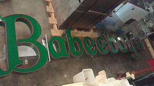 Babeeboy s Led Neon Store Front Sign Can Letters 12 Feet Long Would Break Up