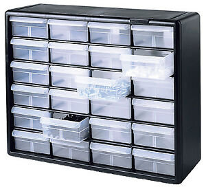 Small Parts Storage Cabinet 24 drawers Akro 10724