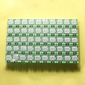 50 Value 1206 Smd Assorted Resistor Kit In Box 0r 10mr 5000pcs 1 4w 5 rohs